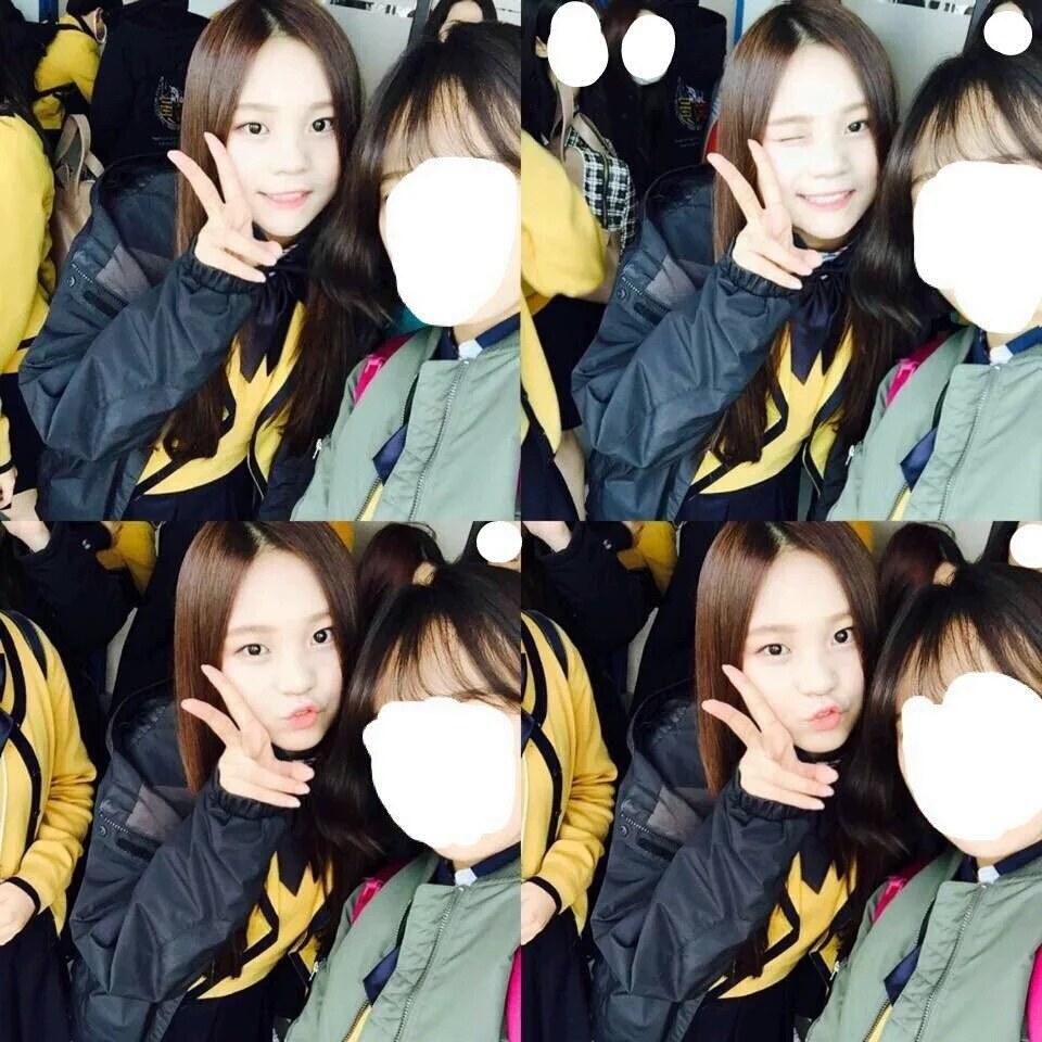 其他網友還拿出別的照片,表示Umji的後輩說:「以前她在學校經過的話,大家都會盯著她看,說她很漂亮!」