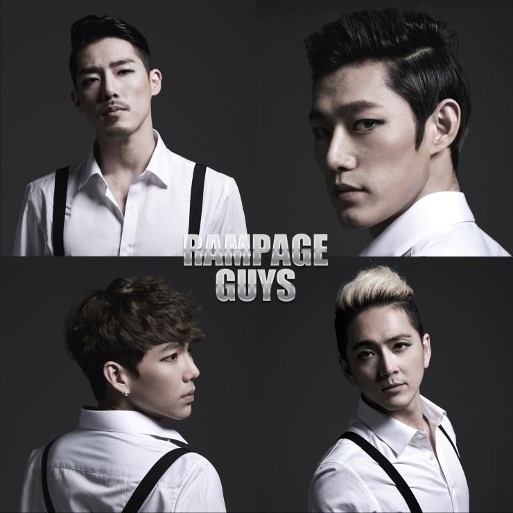 而且竟然也有男子團體,Rampage Guys也是4人團,主要以偶像訓練師、廣告模特兒、音樂劇演員等組成