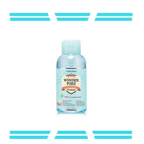 【 Etude House 緊囊妙劑 十合一毛孔對策調理液】 這款同樣在台灣也買得到!薄荷精萃與多種天然植物萃取成分,可以抑制皮脂分泌、預防毛囊發癢,有緊實毛孔的效果!