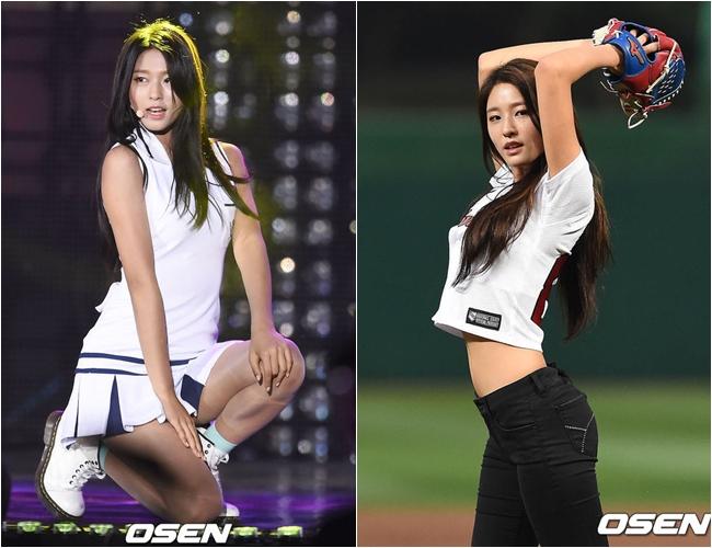 #4.AOA_雪炫 從去年韓國最大的入口網站naver去年的關鍵字第一名是「雪炫,美麗」 就知道雪炫亮眼的外貌給韓國觀眾帶來的印象有多強烈!愛撒嬌的個性再加上魔鬼神材,被選上榜完全有道理啊!