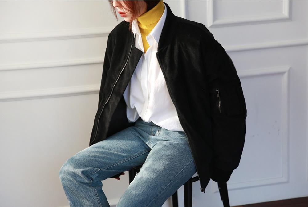 或是寬鬆版型的麂皮棒球外套!因為優越的皮革感讓休閒風升級很有質感耶~