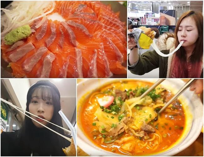 不只彩妝,她們還有華麗的「吃放」,介紹韓國的美食,每集看起來都讓人肚子超餓的啦!