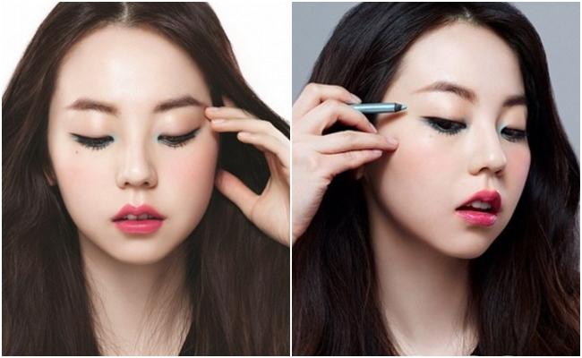 眼線筆韓國代言人是昭熙,雖然她使用的是前衛的藍色,不過反而是平易近人的桃紅色調與棕色調賣得最好!