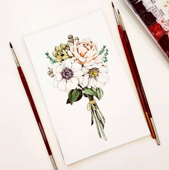 這人便是插畫師이랑... 이랑一天不落地畫美麗的花朵,讓後上傳到IG上...接下來我們一起來欣賞一下插畫師的作品吧!!