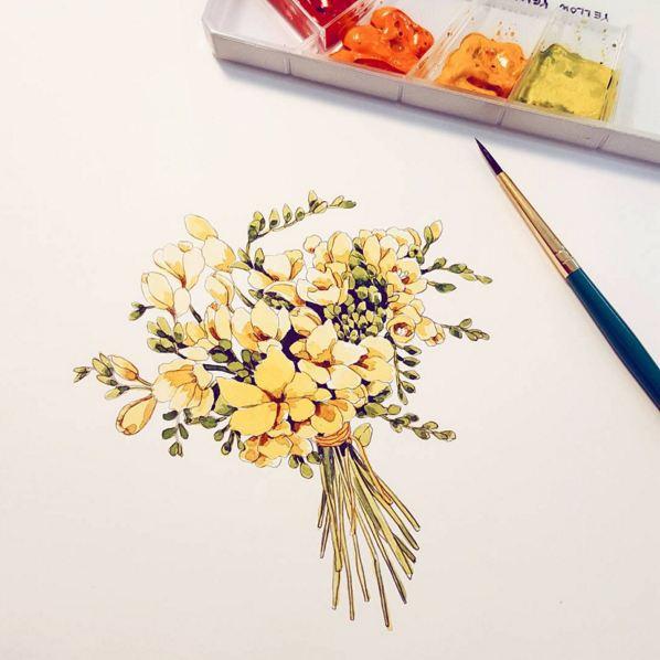 香雪蘭捧花...美翻...♥