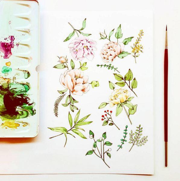 或許插畫師很喜歡芍藥吧...在插畫師的SNS上可以看到很多芍藥畫作...☆