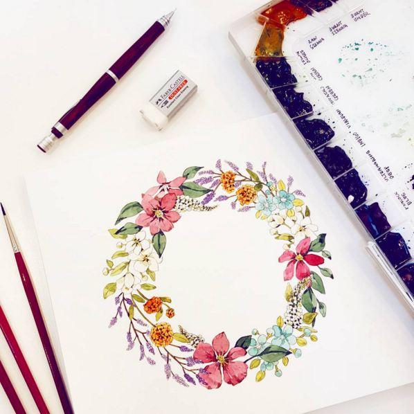 野花+鐵線蓮