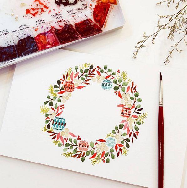 聖誕系列的花環...超卡哇伊欸...♥