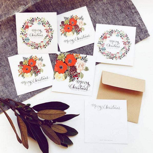 據悉插畫師在聖誕節的時候還親自做了很多card送給朋友們...好貼心..插畫師,我們做朋友吧XDDD~