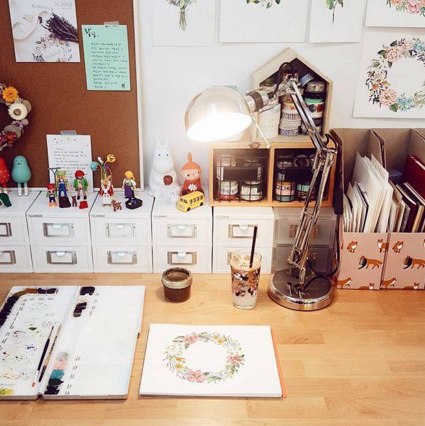 插畫師的工作室....每天都要畫畫,雖然很累,但是還一直堅持著,真是太厲害了!期待以後給我帶來更多美好的作品...:-D