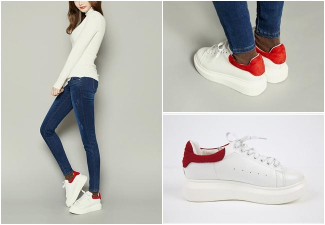 剛剛介紹過的鞋子後方特殊設計,也有許多單色款的對比風格~