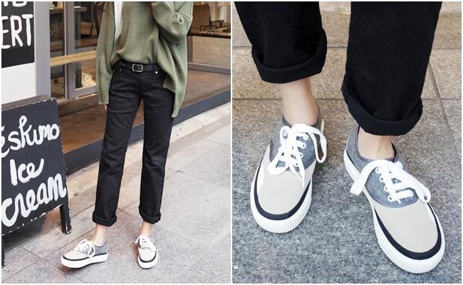 另外一種雙色設計是將鞋頭與鞋身做不一樣的調和,也是街頭很常出現的鞋款~