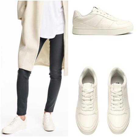 純白的運動鞋,無論是上課、日常生活都很百搭~