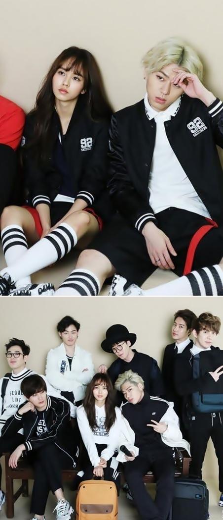 除了和男團Block B有合作以外…