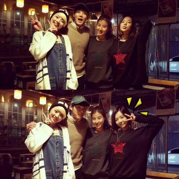 知名造型師Soo Koung Suh也在個人SNS上上傳了這張與少女時代Sunny的合照,兩人也都穿著這件星星大學T