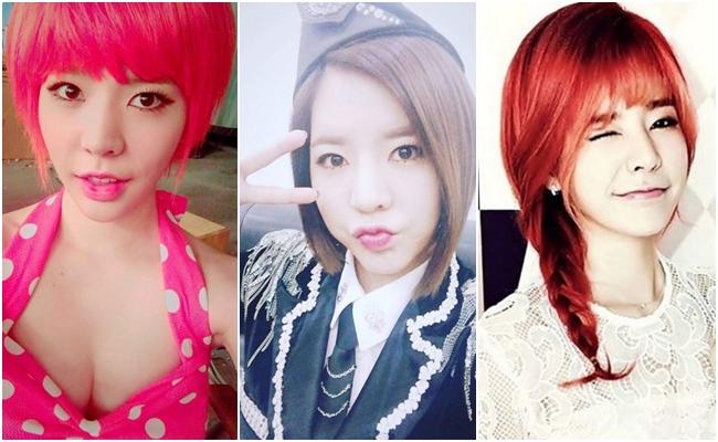 還有還有!別忘了最近也是短髮的Sunny呀!嘗試了鮮紅髮色的她,最近也維持著俐落的斜角短髮呢!