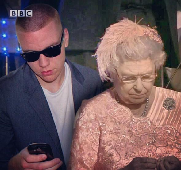 居然大西洋彼岸的英國也不放過....是女王閣下的保鏢嗎?!!XDDD (問一下女王缺人不?把小編也P上去吧)