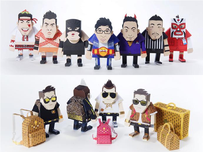 所謂Paper Toy,就是用製作成的玩具...既環保,又便宜...很受歡迎的說~♥