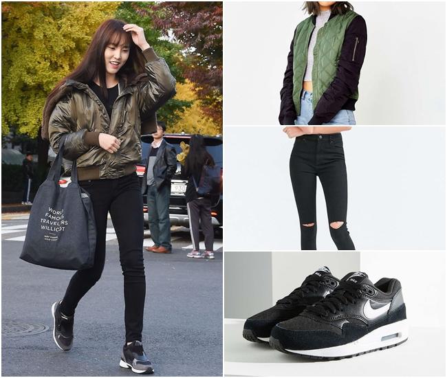 喜歡這種風格的女生,通常都會有一雙好看又實穿的運動鞋!色彩繁複的程度盡量簡約降到最低,緊身的下身搭配也是基本款!