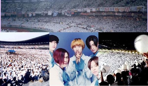 H.O.T:S.M娛樂公司打造的第一個團體組合!他們開創創造了韓國多個第一的輝煌紀錄,被譽為韓國K-pop流行音樂的始祖,而應援色白色為最初、純潔的意思;不論什麼活動、場合,只要有H.O.T,就能看見白色。  「Forever H.O.T」更成為歌迷的口號。