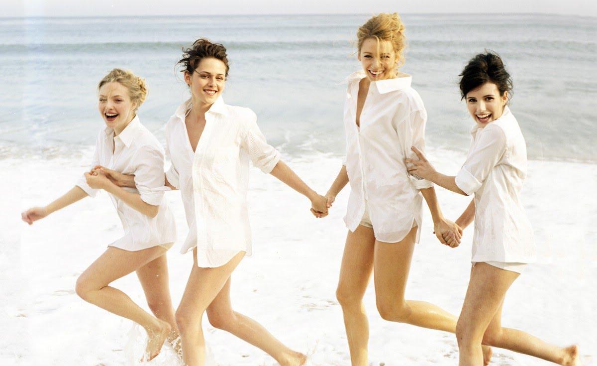 好萊塢最hot四人組!! Amanda Seyfried, Kristen Stewart,  Blake Lively, Emma Roberts♥
