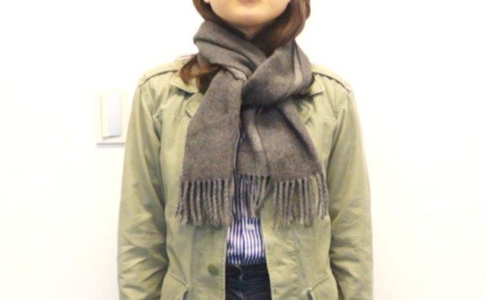 第二種:隨性不隨便style 適合比較隨性休閒的穿搭! 特別是圍巾底部有鬚鬚流蘇的圍巾最合適~