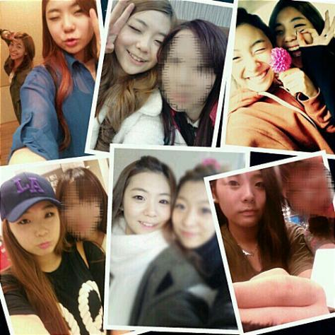 首先是這張2012年11月的照片,是Luna和姐姐以及另一位朋友的合照,這時候看起來還很青澀