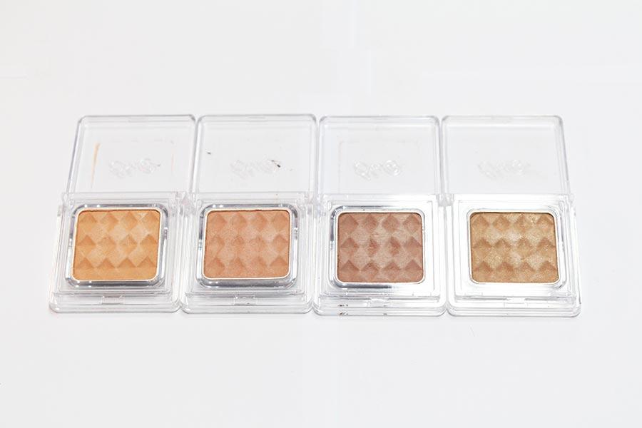 BBIA的母胎系列,也是彩妝大神PONY力薦的一款眼影。 從左至右依次是6號、7號、9號、10號。