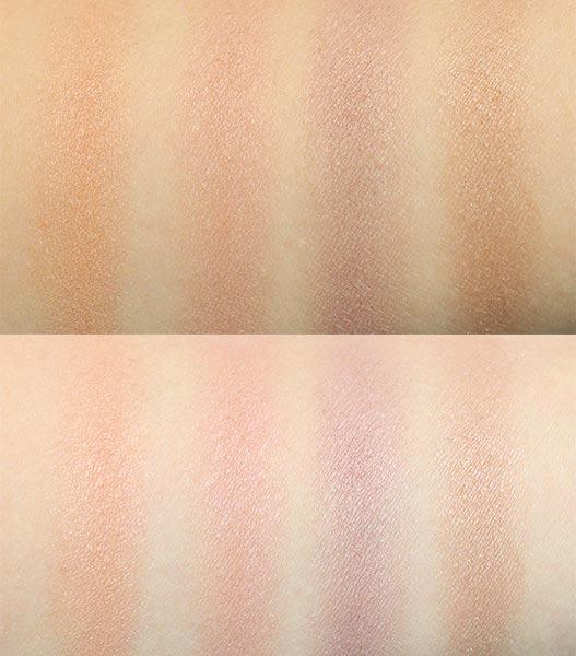 母胎眼影就是為裸妝打造的,所以顯色度不是很高, 不僅可以當眼影,還可以當眉粉、腮紅使用~