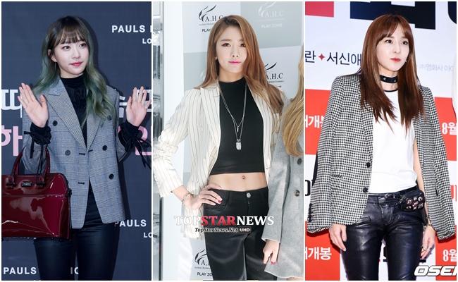 # 西裝外套 也許你會覺得,黑色緊身褲只能日常生活或出遊穿...不!看看Dara與Hani的示範吧,黑色緊身褲與西裝外套的搭配法,能讓乏味的造型呈現全新的摩登感!