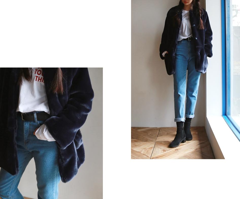 保暖單品#9.{毛絨絨材質外套} 摸起來超舒服的毛絨絨材質,可以先選擇深色系款式較為實搭。這樣一來搭配BF剪裁的丹寧褲也很OK喔!