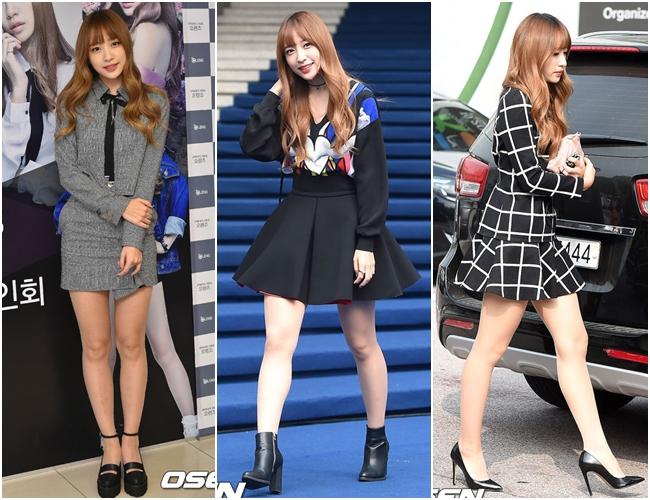 造型風格不斷進步的HaNi也在時裝週上以前衛的穿搭奪下許多搶鏡畫面,比起清純的白色造型,比較喜歡黑色優雅的HaNi嗎?