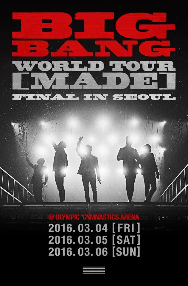 雖然粉絲們擔心BIGBANG合體的日子沒剩多久,但是太陽也宣布,BIGBANG《MADE》巡迴演唱會終場要開回首爾,而且會準備趕緊推出《MADE》專輯!那就請大家多多期待囉~