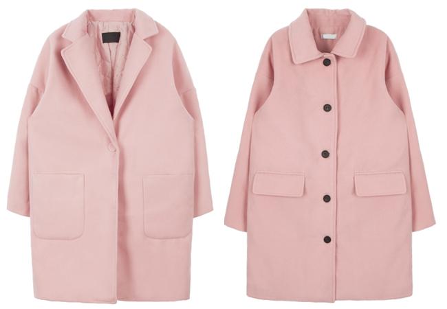 粉色大衣這個冬天正流行!無論是排扣式,或是復古款,都能讓女孩增添一抹親切的俏皮感