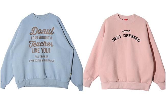 充滿溫暖感的運動衫也很適合!你會選擇粉藍還是粉紅呢?