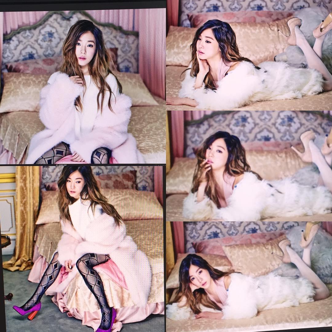 連雜誌拍照都會設定粉紅主題搭配她的喜好~
