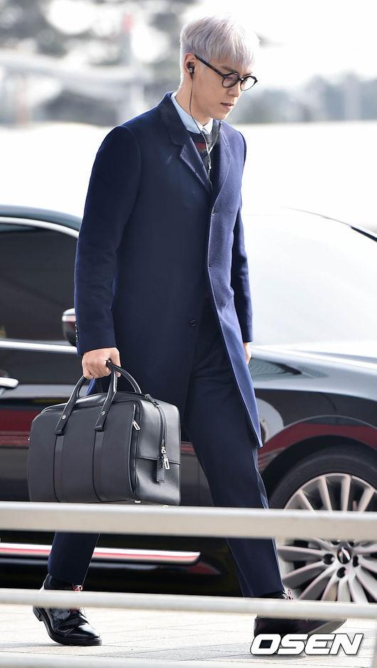 T.O.P 22日出現在韓國仁川機場,打算搭飛機前往巴黎