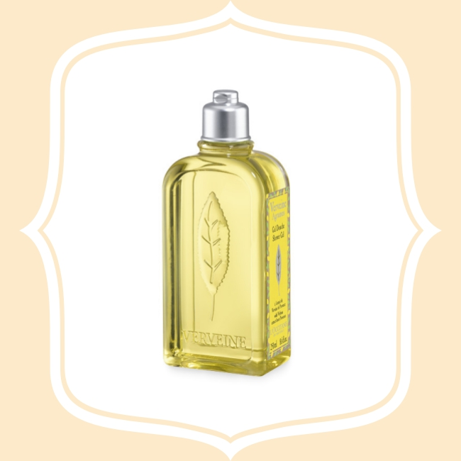 歐舒丹馬鞭草沐浴膠 馬鞭草的明亮香氣,可以排除壓力,是一股令人舒服、安定人心的味道!