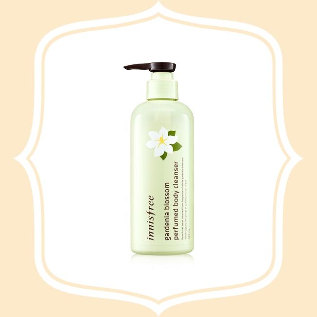 Innisfree 梔子花沐浴乳 梔子花的淡淡花香令人心情愉悅,密集而豐富的泡沫,在沐浴後也能感受到保濕度與舒適的觸感
