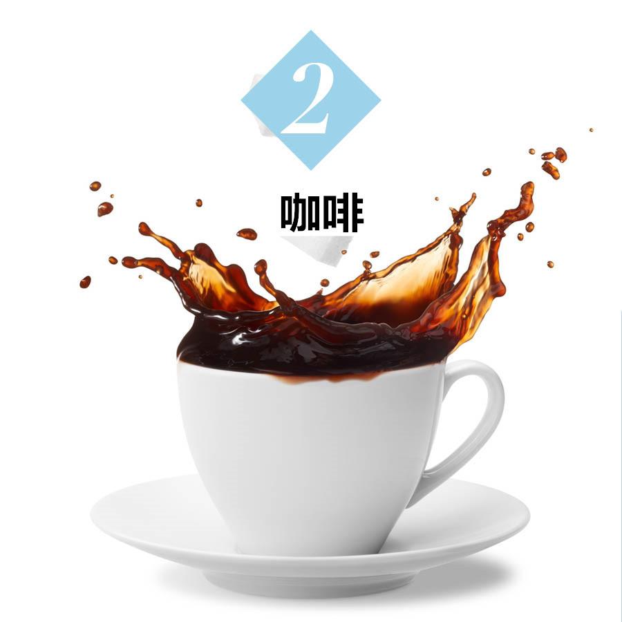 太集中在工作或者讀書時,喝咖啡時不小心灑出來。