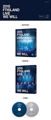 本次演唱會DVD - 2015 FTISLAND LIVE WE WILL TOUR 內容物含有:光碟片2片