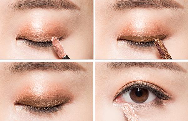 這款眼影蜜除了可以大面積打底,也可以當眼線液來用,因為刷頭是根據眼型設計的,最頂頭設計的特別尖,米色的眼影蜜還可以用來塗臥蠶,比起一般的臥蠶粉,更服帖,更滋潤。
