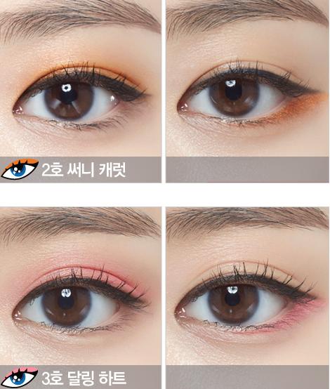 一共出了金色、橙色、粉色、白色和棕色5種顏色,尤其是粉色和橙色不管是塗上眼皮還是下眼皮,都好清爽甜美的感覺啊!