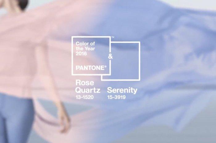 每年Pantone都會選出今年的代表色, 而2016年的代表色就是粉晶色和寧靜藍!