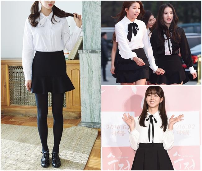 今年的襯衫流行款年齡層瞬間降到童裝的感覺~~為了讓襯衫展現更多女孩的氣息,很多款式都多了蝴蝶結的設計!