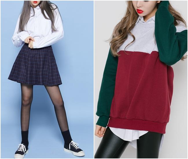 就算是校服,也能穿出個人時尚感濃厚的風格~