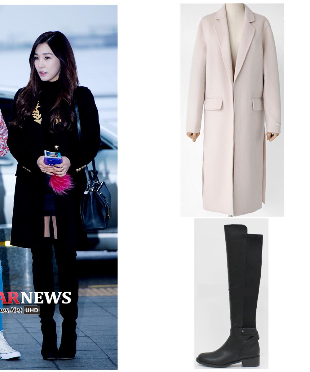 像這種長款呢子外套,穿的人實在太多了,所以一定要選一件設計比較特別的,像是韓國今年冬天很流行的在兩側開口的設計,此外玫瑰石英粉紅也是今年的主打顏色。長筒靴也可以選這種前長後短款的。