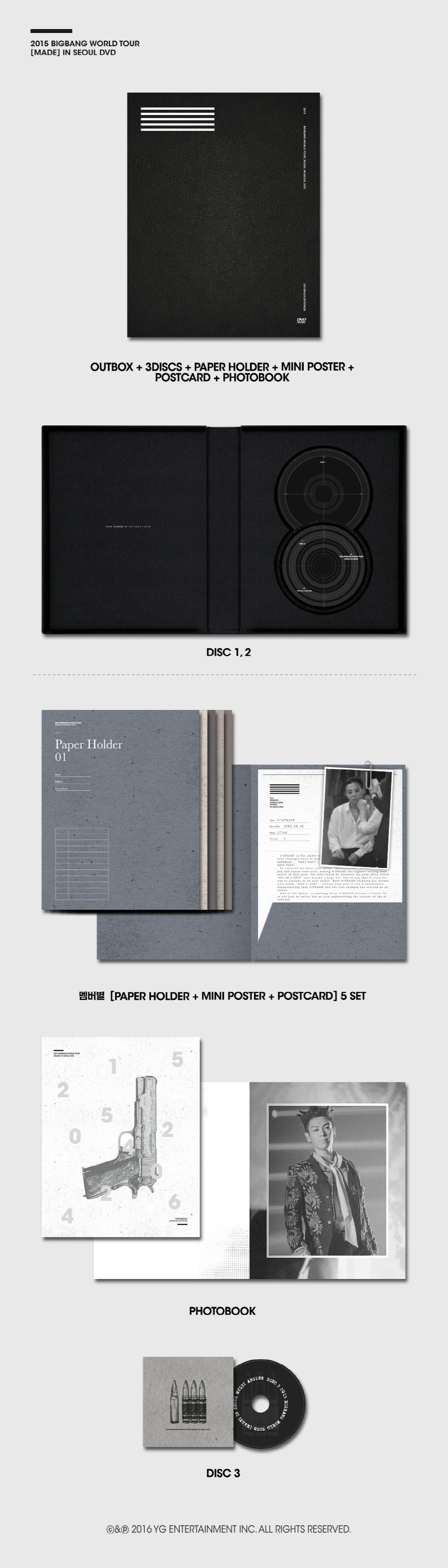 啊~但是當天BIGBANG《MADE》世界巡迴的首爾開場版,也同時推出演唱會DVD了欸,雖然比師弟WINNER專輯整整貴一張小朋友,要價1468元,但是好像很超值欸?不然把錢砸在師兄身上好了?