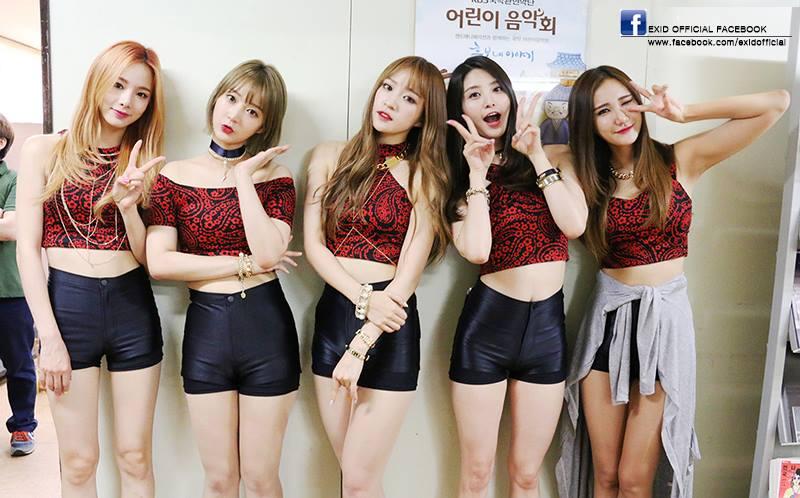 沒錯~就是EXID啦♥韓國網友們說雖然知道她們身材很好,但不知道原來有這麼高!!並說可能因為臉看起來比較可愛,就以為身高沒有高到那種程度XD