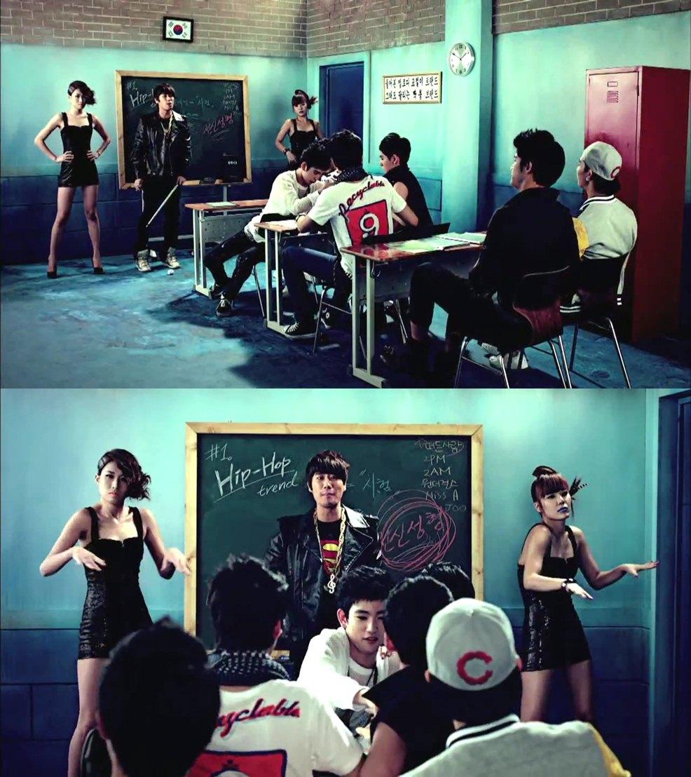 坐在那邊的學生群,這顏質也太高了吧?San E你是去藝能學校上課嗎?